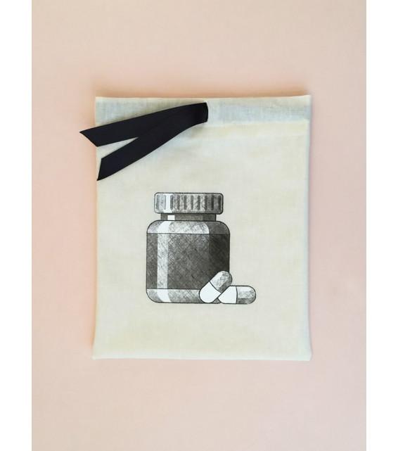 """Мешок для лекарств с принтом """"Таблетки"""" от The Meshok"""