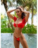 Купальник раздельный Beach Bunny - CRAZY IN LOVE top (красный)