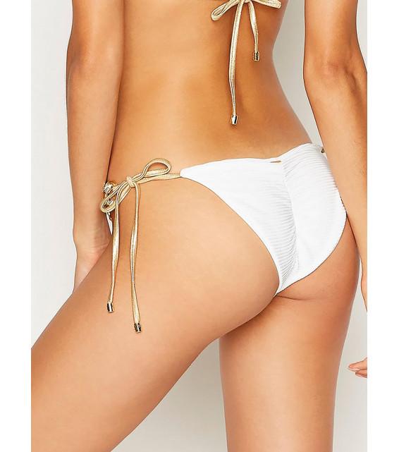 Плавки на завязках Beach Bunny - MADAGASCAR GLAM tie side bottom (белый)
