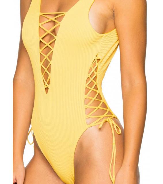 Купальник слитный Luli Fama - COSTA DEL SOL (желтый)