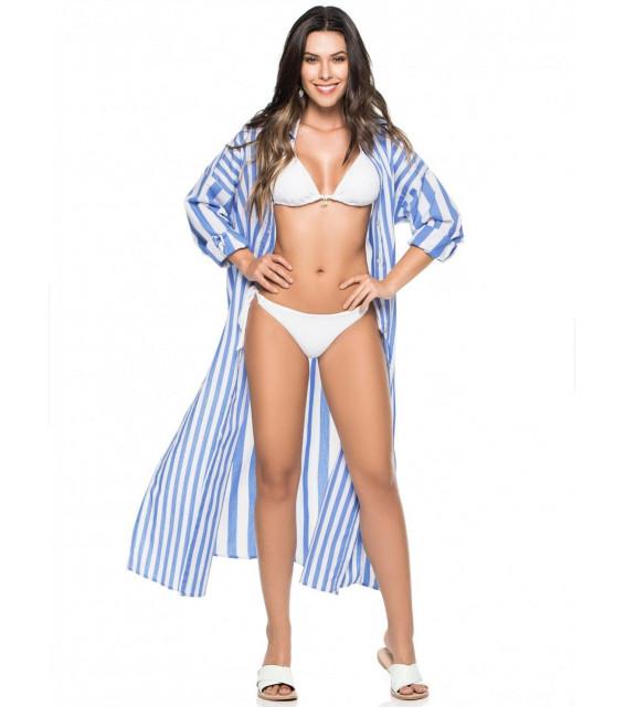 Пляжная рубашка длинная Phax - TIEDYE WATER (полоска)