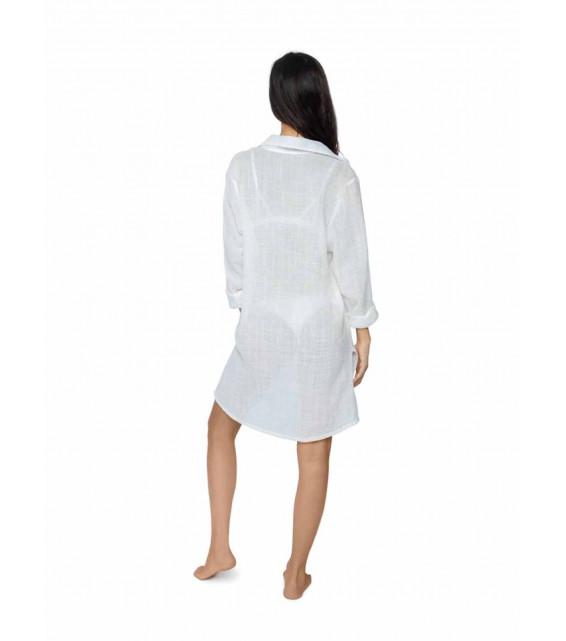 Пляжная рубашка Pilyq - WATER LILY (белый)